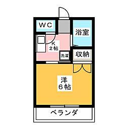 サンライズオカヤマ[2階]の間取り