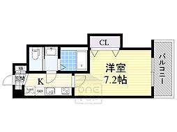 Luxe鶴見 3階1Kの間取り