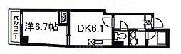阪急京都本線 京都河原町駅 徒歩8分の賃貸マンション 1階1DKの間取り