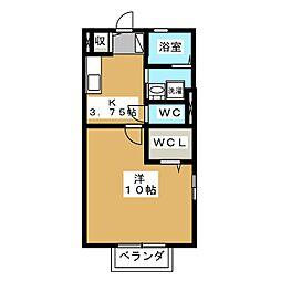 愛知県名古屋市港区小碓3丁目の賃貸アパートの間取り
