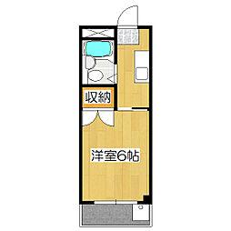 伏見上野ハイツ[3階]の間取り