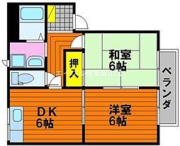 ボーンパルク富士見[1階]の間取り