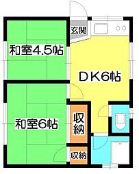第3YSハイツ[2階]の間取り