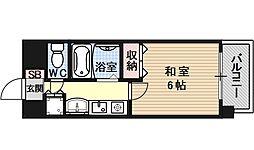 プレサンス京都御所東[502号室号室]の間取り