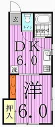 コーポ・タナカ[202号室]の間取り