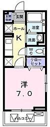 鷹匠町アパート[1-3010号室]の間取り