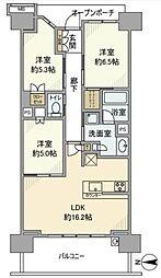 ブリリアシティ横浜磯子[7階]の間取り