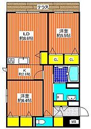 (仮称)シャーメゾン千代田[1階]の間取り