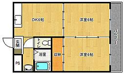 京都府京都市西京区松室荒堀町の賃貸マンションの間取り