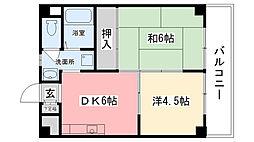 木元マンション[202号室]の間取り