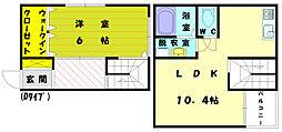 [テラスハウス] 福岡県福岡市東区美和台3丁目 の賃貸【/】の間取り
