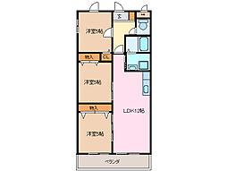 プレジール尾平 A棟[2階]の間取り