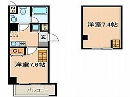 サイプレス小阪駅前[7階]の間取り
