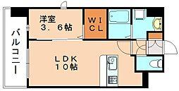グランドクリーンヒット松田[6階]の間取り