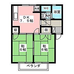 コーポセンターストークA[1階]の間取り