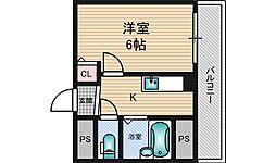 木川東エクセルハイツ[3階]の間取り
