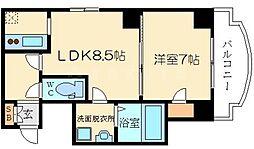 ノルデンタワー新大阪アネックス A棟 7階1LDKの間取り
