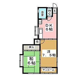 メゾンドチェリー[1階]の間取り