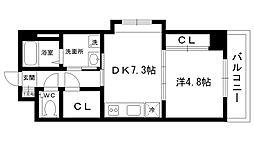 ブルーノ夙川[403号室]の間取り