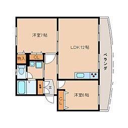 静岡県静岡市駿河区広野3丁目の賃貸マンションの間取り