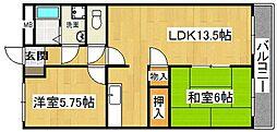 フロンテイア深野[3階]の間取り