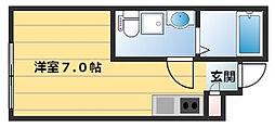 Nakano Terrace 1階ワンルームの間取り