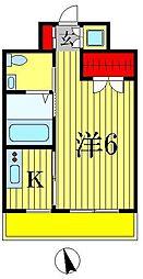 パークフラッツ松戸[8階]の間取り