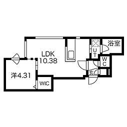 札幌市営東西線 西11丁目駅 徒歩10分の賃貸マンション 5階1LDKの間取り