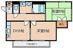 兵庫県神戸市長田区海運町3丁目の賃貸アパートの間取り