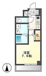 パルティール新栄[4階]の間取り