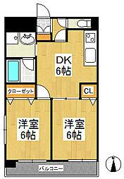 天神アコールマンション[2階]の間取り