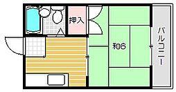 ハイツ森田[2階]の間取り