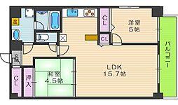 KM山坂[4階]の間取り