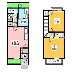 フローラ永田 C棟[1階]の間取り