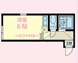 神奈川県横浜市金沢区海の公園の賃貸アパートの間取り