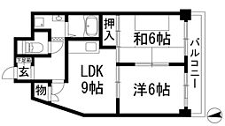 第二南マンション[3階]の間取り