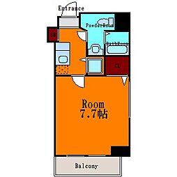 ライツェント築地[7階]の間取り