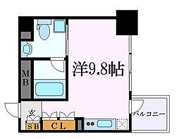 名古屋市営名城線 名城公園駅 徒歩7分の賃貸マンション 7階ワンルームの間取り