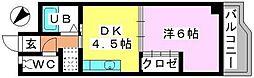 カーサ・コモーダ[405号室]の間取り