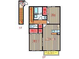 エクセルコートPartII-One[2階]の間取り