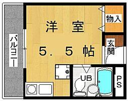 リエールヤマモト[3階]の間取り