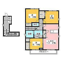 クラッシー[2階]の間取り