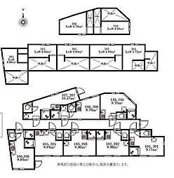 東京都杉並区阿佐谷南2丁目の賃貸アパートの間取り