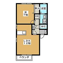 パレット A[2階]の間取り