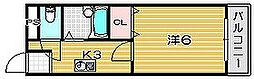 クロシオハイツV[1階]の間取り