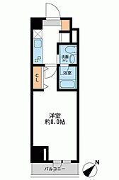 ザ・パーククロス日本橋[0908号室]の間取り