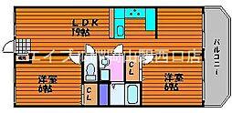 岡山県岡山市南区泉田丁目なしの賃貸アパートの間取り