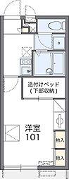 南海線 岡田浦駅 徒歩21分の賃貸アパート 1階1Kの間取り