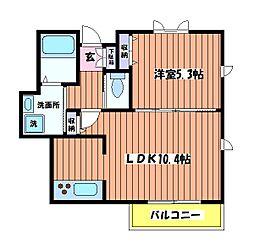 ココア[1階]の間取り