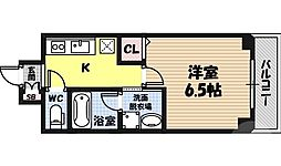 ノエル野江 1階1Kの間取り